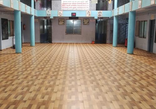 The Igatpuri boarding school gets newly tiled flooring.
